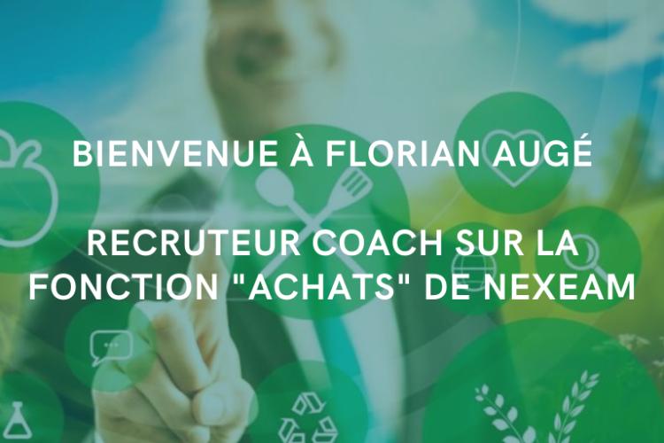 Nexeam - Actualités - Florian Augé Recruteur Coach sur la practice Achats de Nexeam